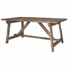 180 & 220 country farmhouse distressed elm trestle table - Trade Secret