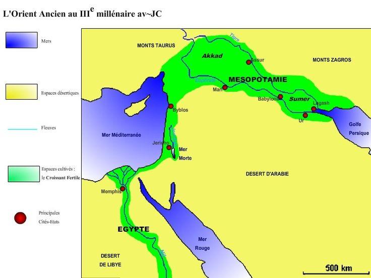 Mésopotamie-carte-de-la-Mésopotamie-dans-l-Antiquité-Sumer-Babylone-croissant-fertile-Tigre-Euphrate-Akkad-Sargon-empire-Akkadien