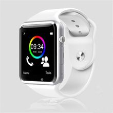 A1 Reloj Bluetooth Inteligente Reloj Deportivo Podómetro Con SIM Cámara Smartwatch Para Android Smartphone de Rusia T15 bueno que DZ09