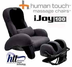 ijoy 100 human touch massage chair grey ottoman 20 gray by ijoy 100 human touch