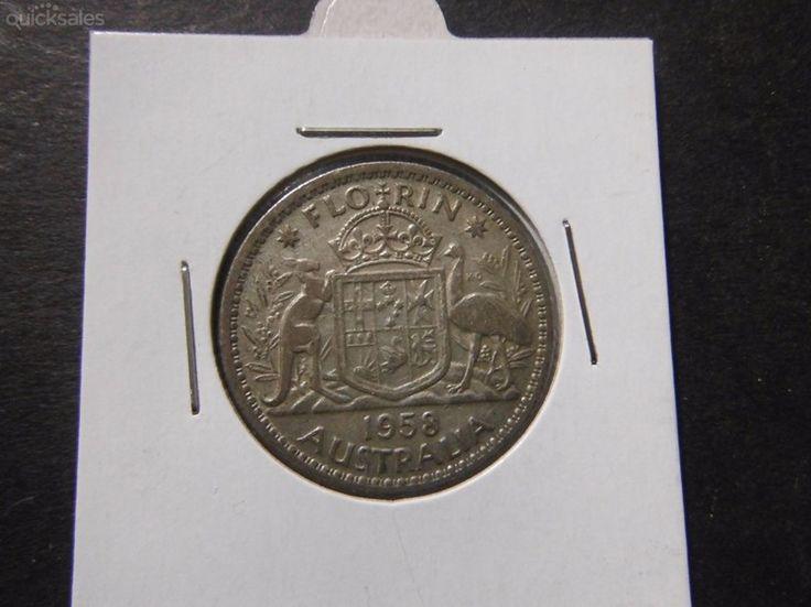 Florin 1958, QE II, good condition by jones101 - $16.00