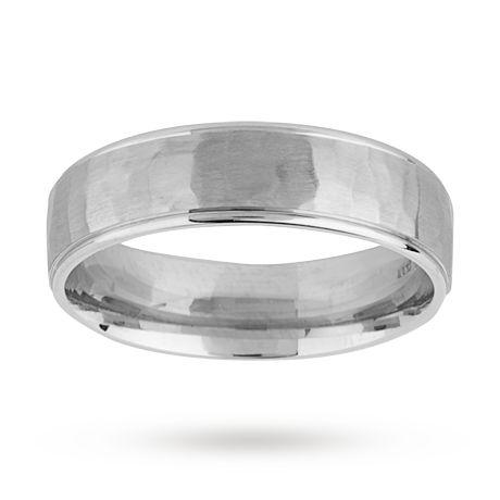 6mm hammered gents ring in palladium 500 http://www.weddingheart.co.uk/goldsmiths.html