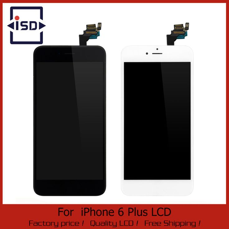 White/Black For iphone 6 Plus 5.5 LCD Display Touch Screen digitizer + Home button + Front camera Assembly Free Shipping