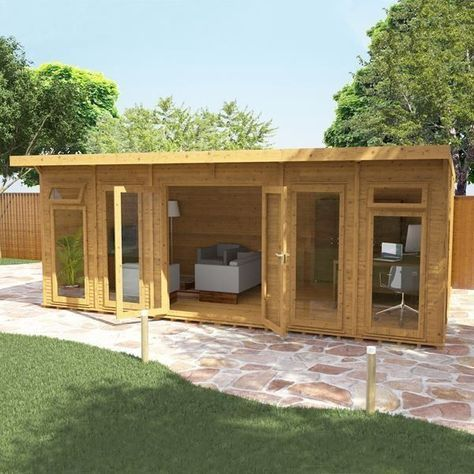 Avon 6m x 4m Insulated Garden Room -http://www.sheds.co.uk/log-cabins/insulated-garden-rooms/avon-6m-x-4m-insulated-garden-room.html