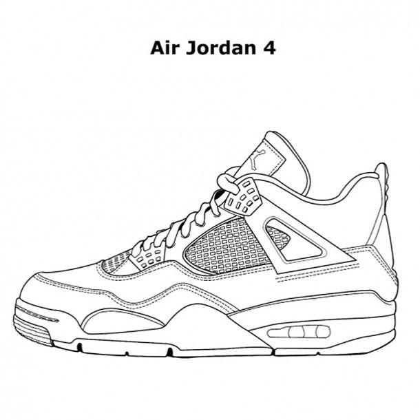 Jordan Coloring Book Sneakers Drawing Jordan Coloring Book Shoe Template