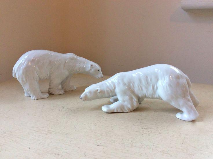 Beautiful Pair Antique Gebruder Heubach German Porcelain