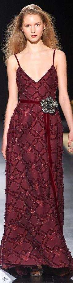 @roressclothes clothing ideas #women fashion burgundy maxi dress Fall 2017 Badgley Mischka