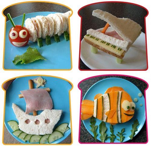 """Con estos sandwiches propuestos por """"Decopeques"""", ni un niño sin merienda! ;)"""