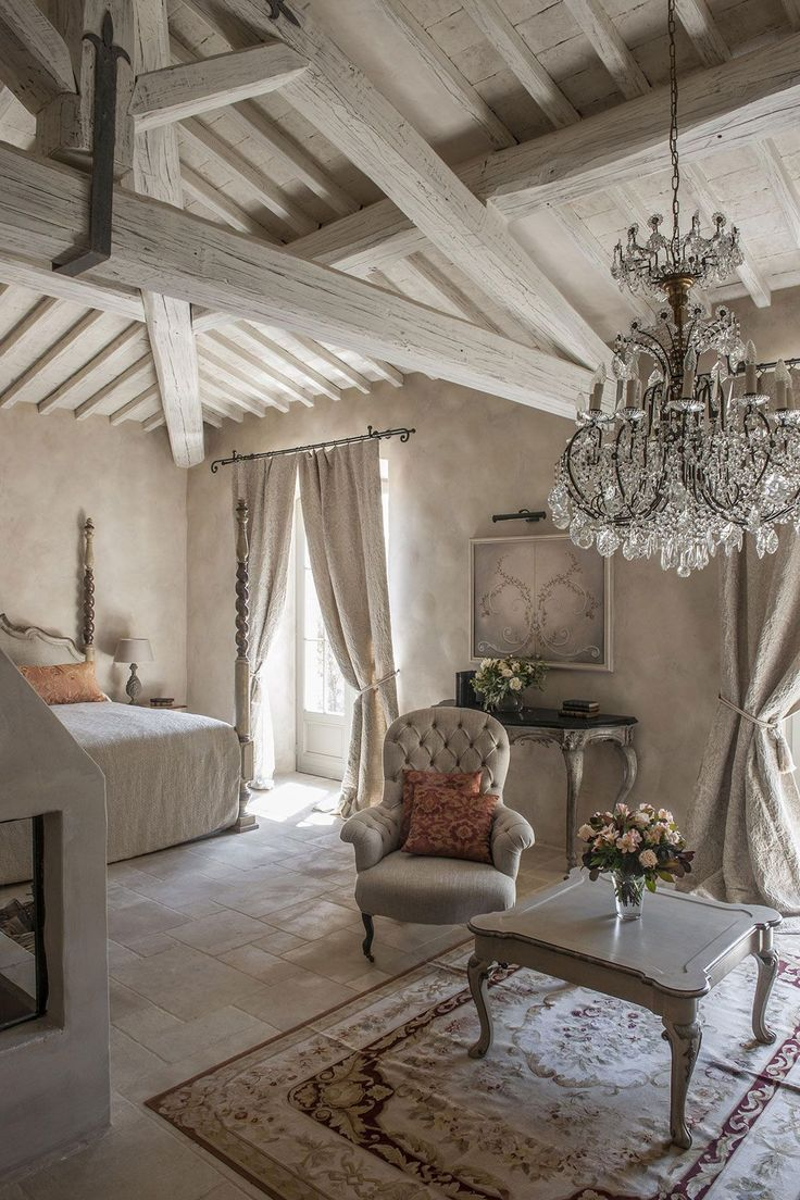 French country kitchen work table romantic decorating for Decoration cottage maison