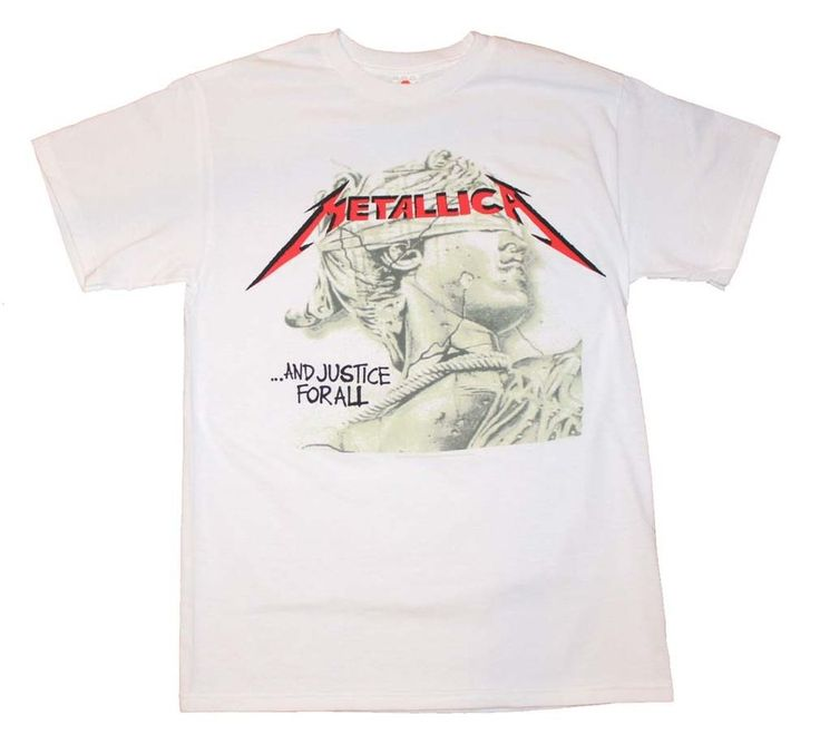 METALLICA And Justice For All Men's T-Shirt FREE delivery 100% cotton white…