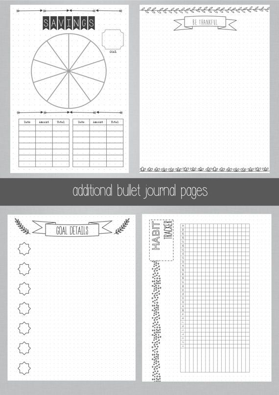 Best 25+ Journal pages printable ideas on Pinterest Bullet - How To Do A Cover Page