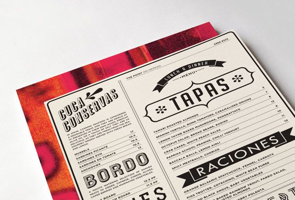The Point Menu by Leyla Muratovic, via Behance #graphic #design #graphism