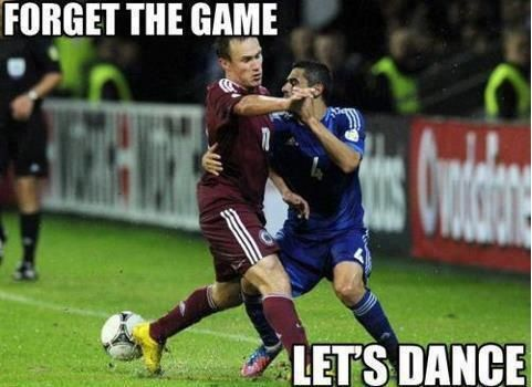 Forget the game, let's dance! Funny soccer meme