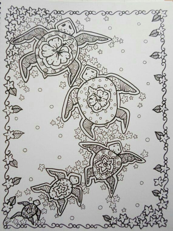 Turtle Turtle Coloring Pages Coloring Books Adult Coloring