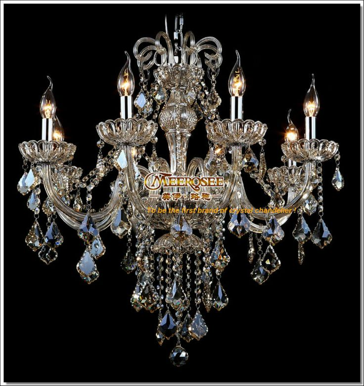 Exquisite Handmade Style Art Cognac Crystal Chandelier Lamp Free Shipping Md6609 332 00