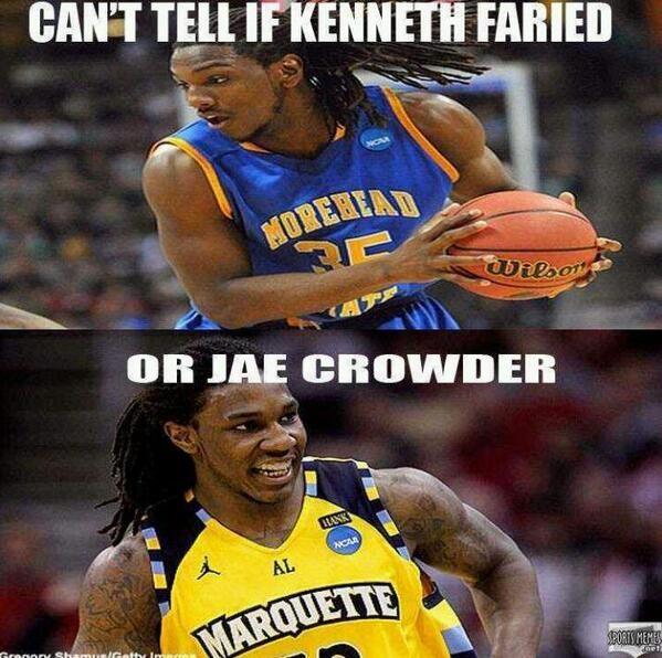 Jae Crowder / Kenneth Faried | NBA MEMES | Pinterest