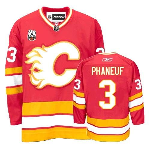 Calgary Flames Dion Phaneuf 3 Red Authentic NHL Jersey Sale