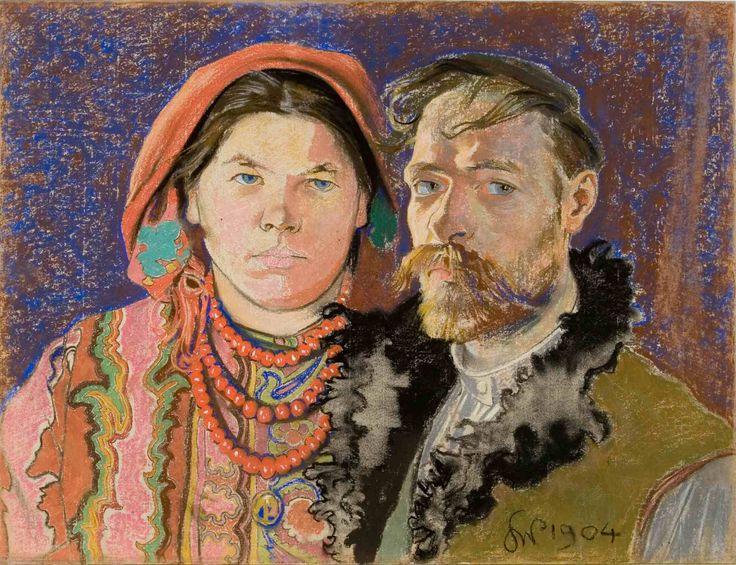 Stanisław Wyspiański - Autoportret z żoną, 1904
