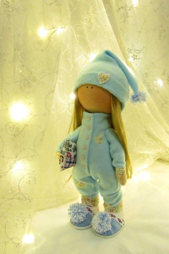 CLOTH DOLL handmade doll fabric doll art от NICEDOLLSANDRABBITS