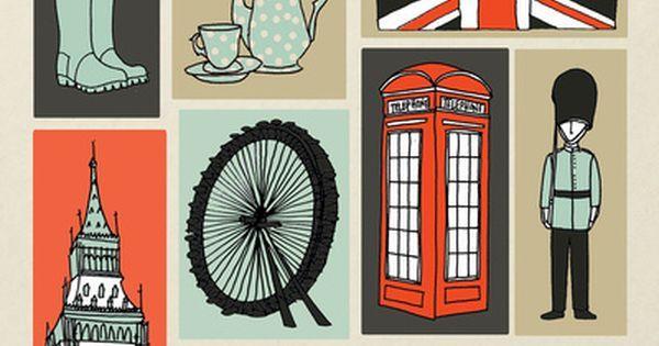 #London #illustration | Lontoo | Pinterest | Travel inspiration, Inspiration and London poster