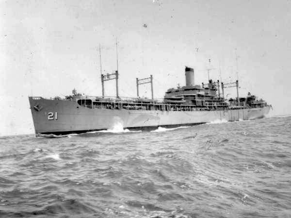 The USS MARKAB Destroyer Tender | WWII Two Men Two Fronts ...