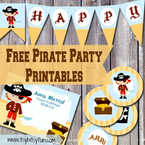 25 best ideas about Pirate invitations – Free Pirate Party Invitations