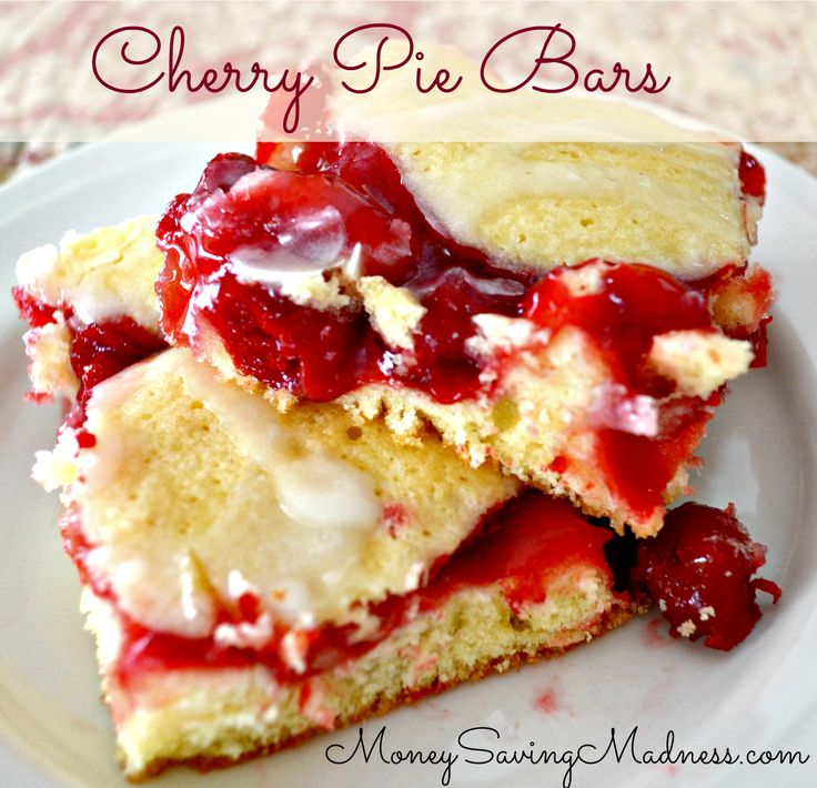 Easy Cherry Pie Bars   Desserts that are calling to me ...