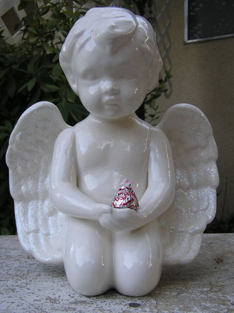 Glazed Glitter Wing Angel Decor by whitedovecrafts on Etsy, $15.00  Fairest maiden in the land she holds that special kiss in her hand.  Set her in the sun & watch the world sparkle with fun.