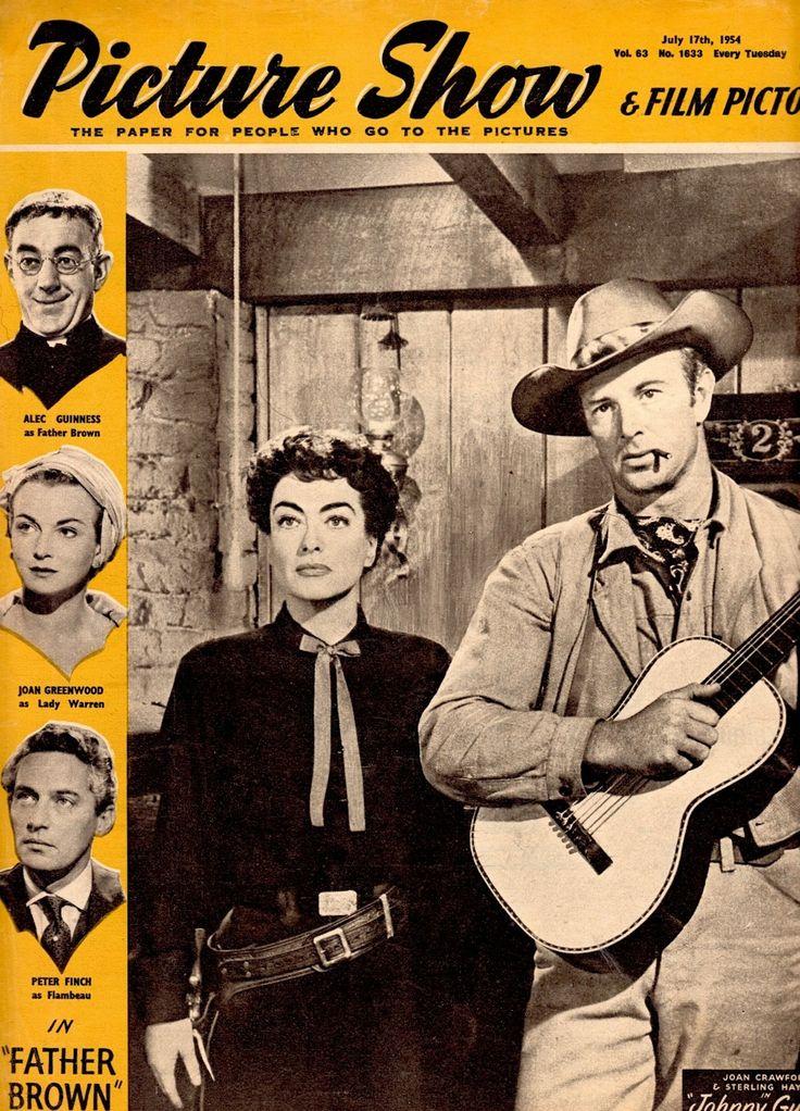 JOAN CRAWFRD & Sterling Hayden in JOHNNY GUITAR Picture Show cover (detail) July 17th 1954 (U.K) (please follow minkshmink on pinterest) #johnnyguitar #joancrawford #western