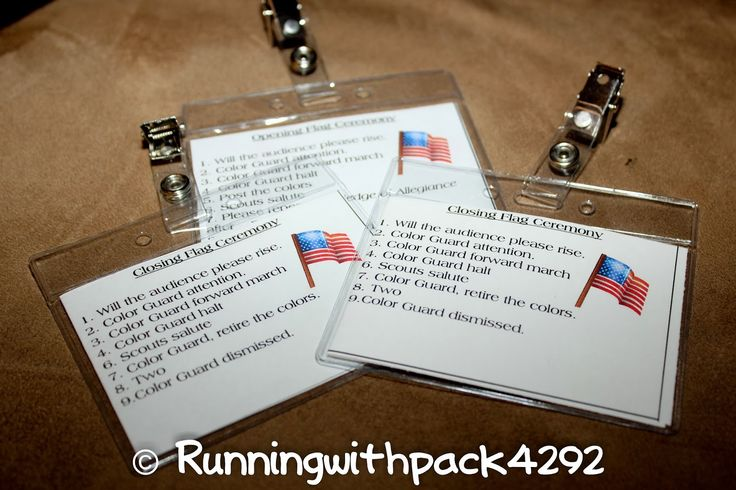 Building a Better World (Arrow of Light Adventure) - Cub Scout Flag Ceremony cheat sheets for boys to help them remember all the steps to calling the opening or closing flag ceremony. They can clip them on their pocket or hang them on a lanyard when it is their turn to lead the ceremony.