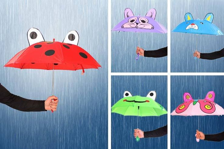 Kids Animal Umbrella - 5 Colours! deal in Baby Products Get a kid's animal umbrella.  Choose from five colours, each with an animal design.  Perfect child size brolly.   Approximately 65cm long with a canopy width of 78cm.  Rounded tip protectors to prevent injury.   Make walking in the rain fun! BUY NOW for just £4.99 Check more at http://nationaldeal.co.uk/kids-animal-umbrella-5-colours-deal-in-baby-products/