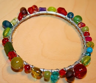 Vitamin C... A Daily Dose of Creativity: Thin Bangle Series #4 - Bead Encrusted