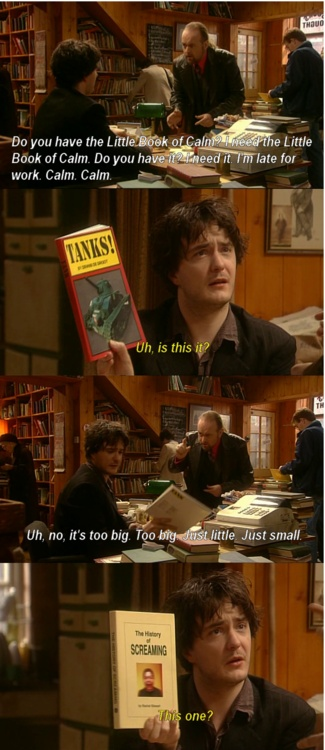 """The Little Book of Calm"" in Black Books"
