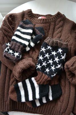 Socks and Mittens For Marsa's little Boy ❤️ (featuring Du Pareil au Meme sweater)