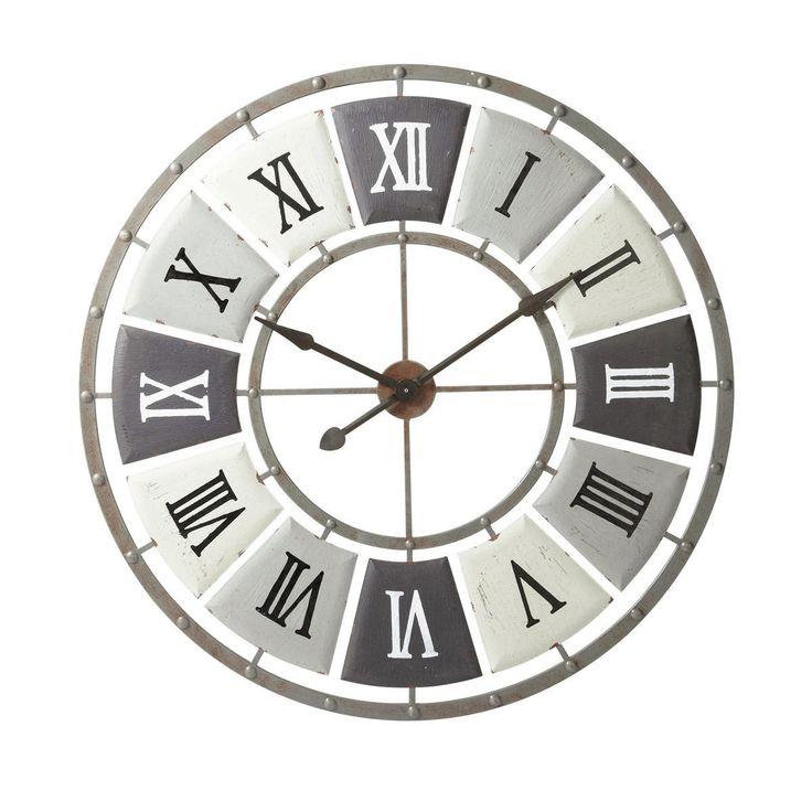 Maison du monde Ambiance industrielle Horloge en métal effet vieilli D 100 cm IMPRIMERIE Dimensions (cm) : H 100 x L 100 x PR 3  129,90 e