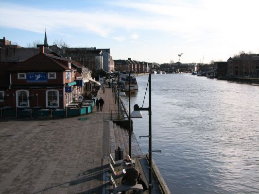 View from the bridge in Fredrikstad, Norway. More photos: Fredrikstad pl