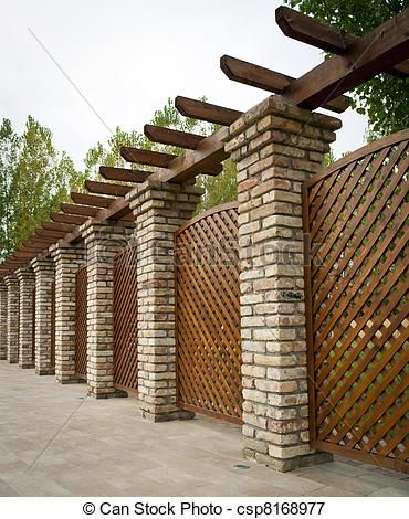 Masonry Fence Design 13 best masonry fence images on pinterest brick fence cement and fence with brick columns and semi privacy lattice design workwithnaturefo