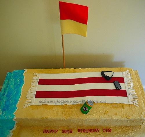 Aussie Beach Cake