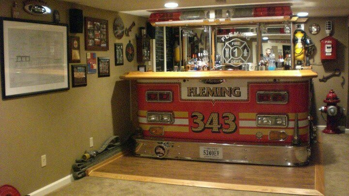 Urban Man Cave Fire : Best images about fire fighter themed bar man cave on