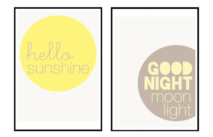 Hello sunshine, Good night moon light