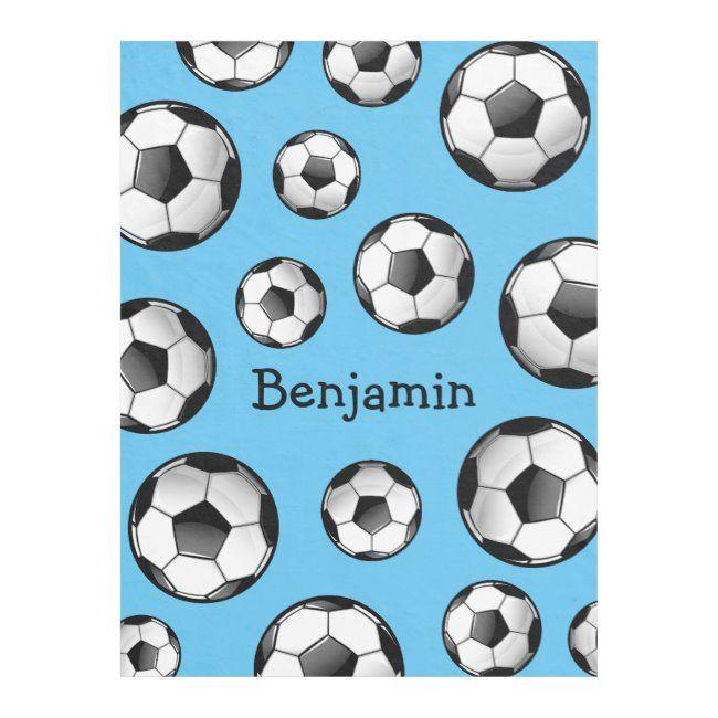 Glossy Soccer Ball Fleece Blanket Zazzle Com Fleece Blanket Soccer Gifts Soccer Ball
