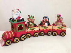Resultado de imagen para tren navideño en paño lency