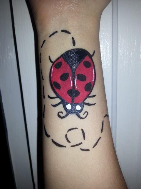Ladybug - Easy Face Painting Ideas - Simple Face Paint Idea