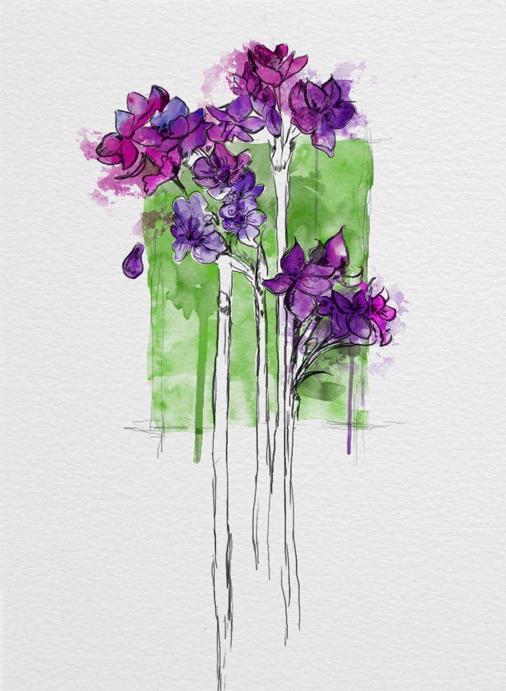 #flowers #digital #watercolour