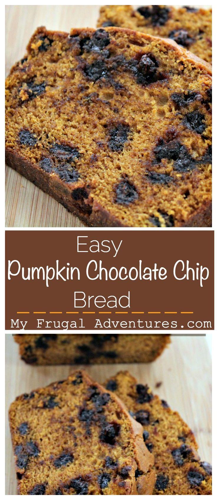 Delicious Pumpkin Chocolate Chip Bread
