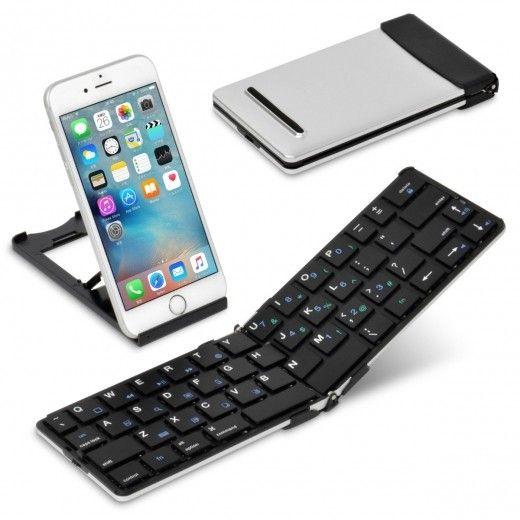 今はパソコンが無くても、スマホやタブレットでちょっとした書類作成や調べ物ってできるけど、キーボードがないと、文字入力が不便(@_@) そんな時に僕が愛用しているのが折りたたみ式Bluetoothキーボード「Wekey」。 このキーボード、薄型軽量で持ち運びもラクだし、スタイリッシュなデザインが気に入ってるんだよね! これは絶対におすすめだよ(^^)