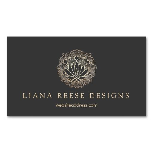 The 25 best cheap business cards ideas on pinterest creative elegant gold lotus flower designer black businesscards fully customizable and ready to order reheart Choice Image