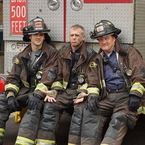 Steven R. McQueen, Christian Stolte and David Eigenberg