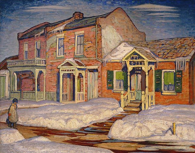 Red House, Winter, by the Group of Seven Painter Lawren Harris.