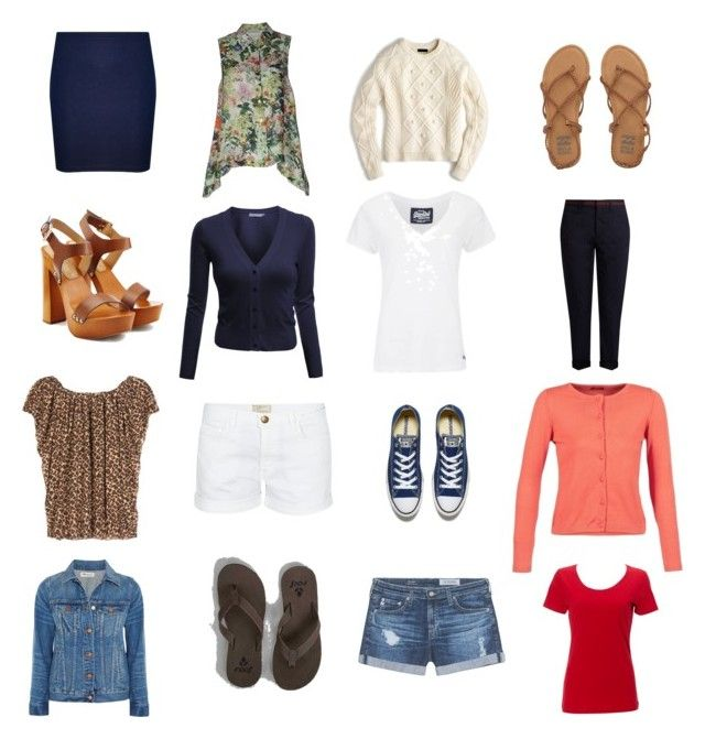 Summer sudoku by wardrobepieces on Polyvore featuring polyvore fashion style Yves Saint Laurent Zanetti 1965 J.Crew Simplex Apparel Superdry Doublju Madewell Miu Miu AG Adriano Goldschmied Current/Elliott WearAll Dsquared2 Converse Reef Billabong clothing
